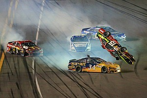 NASCAR Sprint Cup Race report Hamlin wins again, Bowyer flips in second Duel