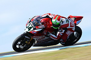 World Superbike Qualifying report Giugliano scores a front row start for tomorrow's races at Phillip Island