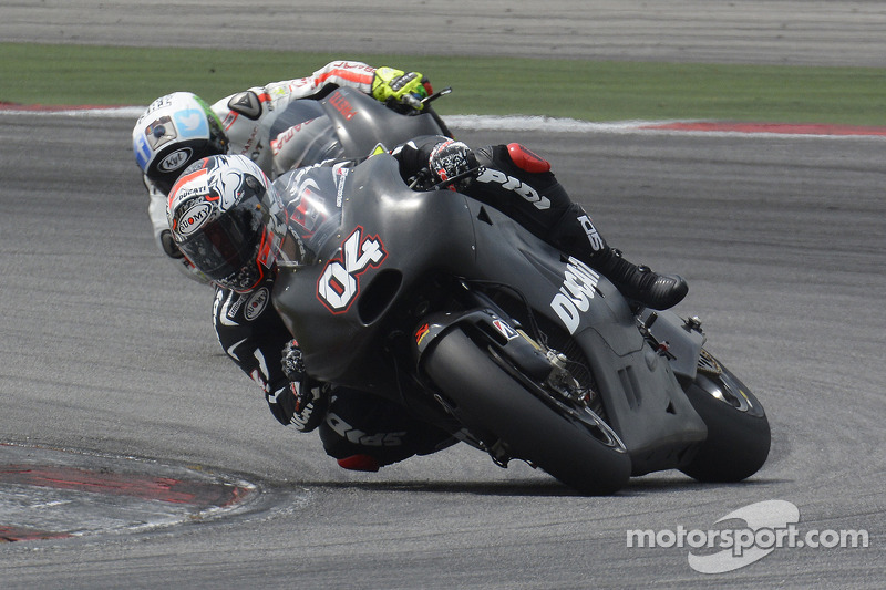 Day 1 of IRTA test at Sepang for Ducati Team