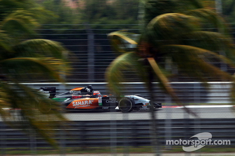 Not an easy day Sahara Force India at Sepang