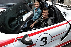 Automotive Breaking news Maria Sharapova and Mark Webber: joyride in the 918 Spyder