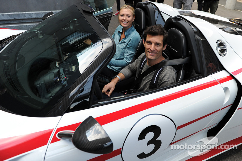Maria Sharapova and Mark Webber: joyride in the 918 Spyder