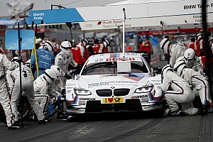 Completely new view of a BMW M4 DTM pit stop using infrared camera