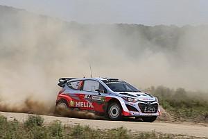 WRC Race report Valuable learning day for Hyundai Shell World Rally Team in Rally Italia Sardegna