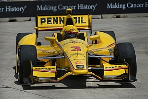 IndyCar Qualifying report Castroneves scores pole for race two in Houston