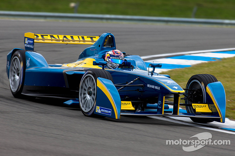 Sebastien Buemi sets the pace in first Formula E test