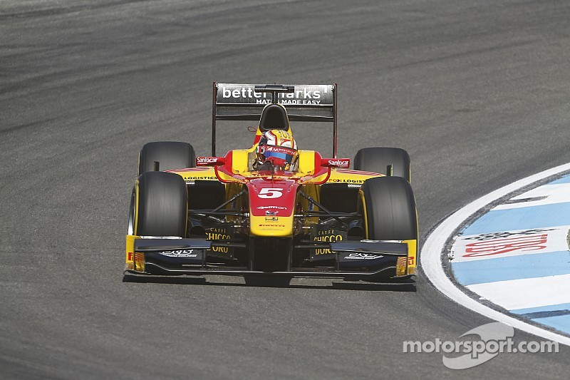 Stefano drives brilliantly to win the Hockenheim Sprint Race in very difficult conditions