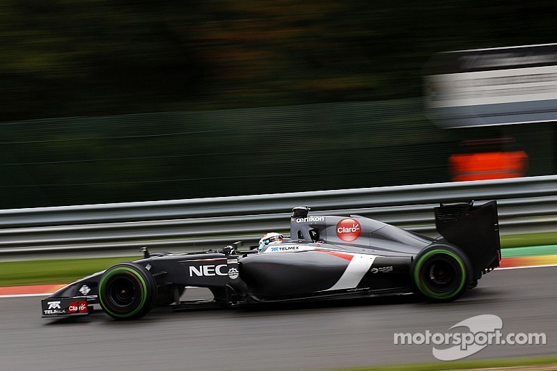 Sauber not fast enough in Spa-Francorchamps