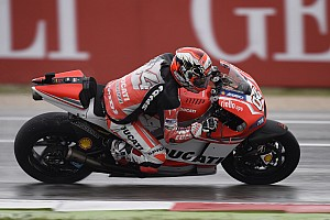 MotoGP Practice report Bridgestone: Dovizioso reigns on wet and wild first day at Misano