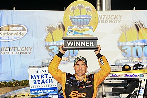 NASCAR XFINITY Race report Gaughan earns first oval win in RCR 1-2-3 at Kentucky