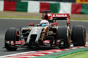 Lotus endured a frustrating qualifying session for the Japanese GP