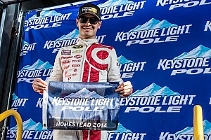 NASCAR Truck Qualifying report Larson earns Truck pole for season finale