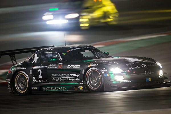 Halfway in Dubai 24 Hours: Black Falcon Mercedes leads