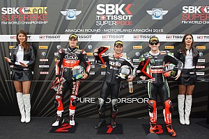 World Superbike Qualifying report Haslam races to Aragon Tissot-Superpole