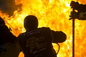 NASCAR XFINITY Race report Crew members engulfed in flames in pit stop fire - video