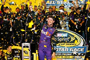 NASCAR Sprint Cup Race report Hamlin earns first All-Star Race victory for JGR