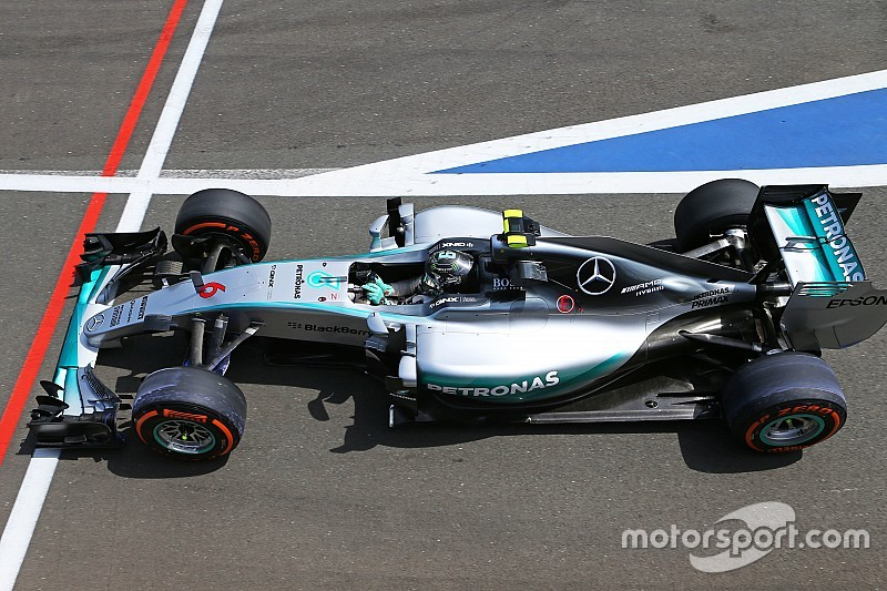 Eventful opening day for Mercedes at Silverstone