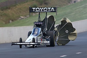 NHRA Race report Brown takes points lead after historic Top Fuel victory