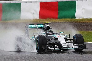 Formula 1 Practice report Mercedes: Limited running in wet conditions on Day One at Suzuka