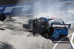 V8 Supercars Breaking news Mostert breaks leg, wrist in dramatic Bathurst crash