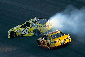 NASCAR Sprint Cup Race report Logano spins Kenseth and wins at Kansas