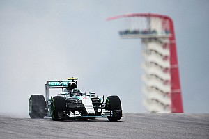Formula 1 Practice report US GP: Rosberg fastest by 1.2s in wet FP1