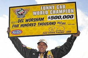 NHRA Race report Worsham and Hines earn NHRA Mello Yello Series World Championship titles