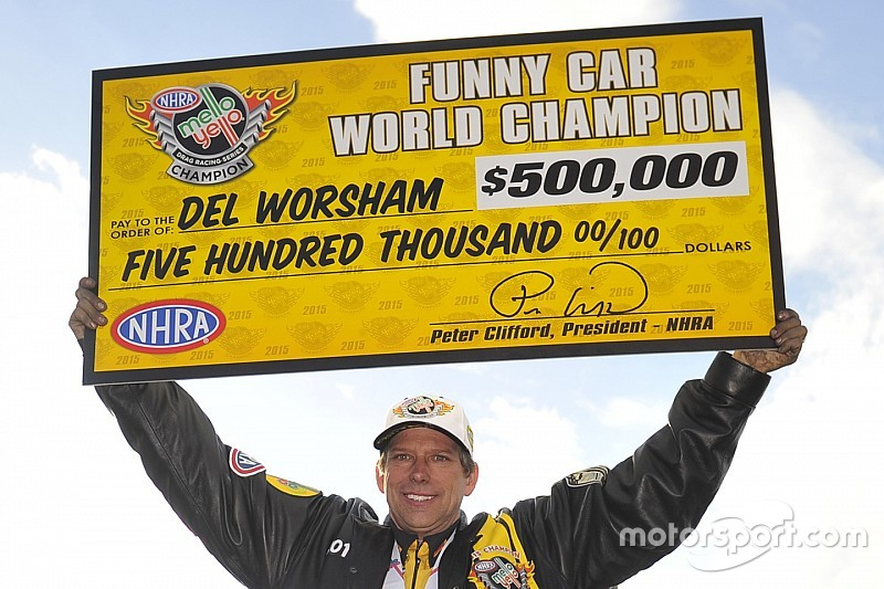 Worsham and Hines earn NHRA Mello Yello Series World Championship titles