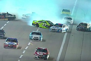 NASCAR Sprint Cup Breaking news More than a dozen cars collected in late-race wreck at Texas