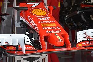 Teknik Güncelleme: Ferrari SF16-H ön kanat kolonları