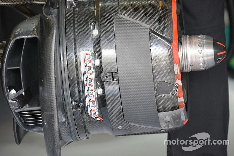 Technique - Tests sur les freins avant chez McLaren