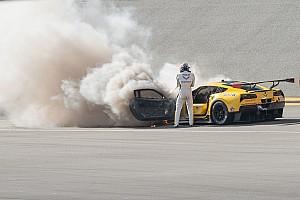 IMSA Nieuws Fässler ongedeerd na brand Corvette in Daytona