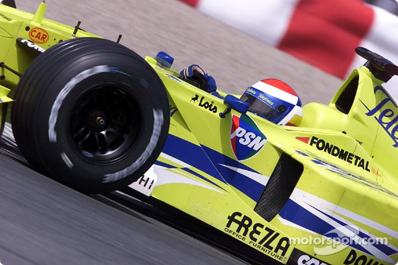 Marc Gene making the best of the Minardi