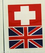 Flags from the 1969 Porsche 908 Coupe - Siffert.Redman (pits)