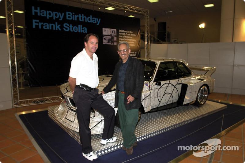 Friday, Frank Stella's 65th Birthday celebration: Gerhard Berger and Frank Stella
