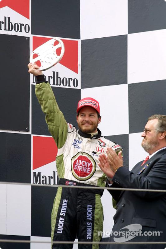 The podium: Jacques Villeneuve