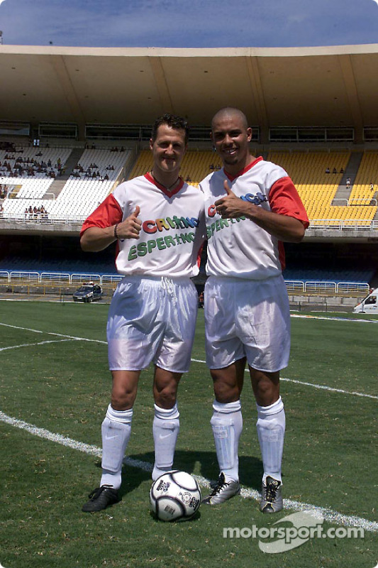 Hope for Children' charity football match: Ronaldo and Michael Schumacher