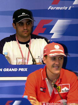 Press conference: Juan Pablo Montoya and Michael Schumacher