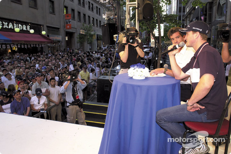 Saturday, BMW M night in the streets of Montreal: Ralf Schumacher