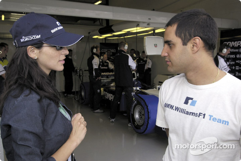 Juan Pablo Montoya with his girlfriend Connie