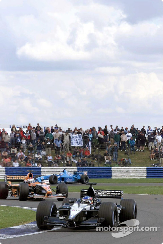 Fernando Alonso, Jos Verstappen and Giancarlo Fisichella