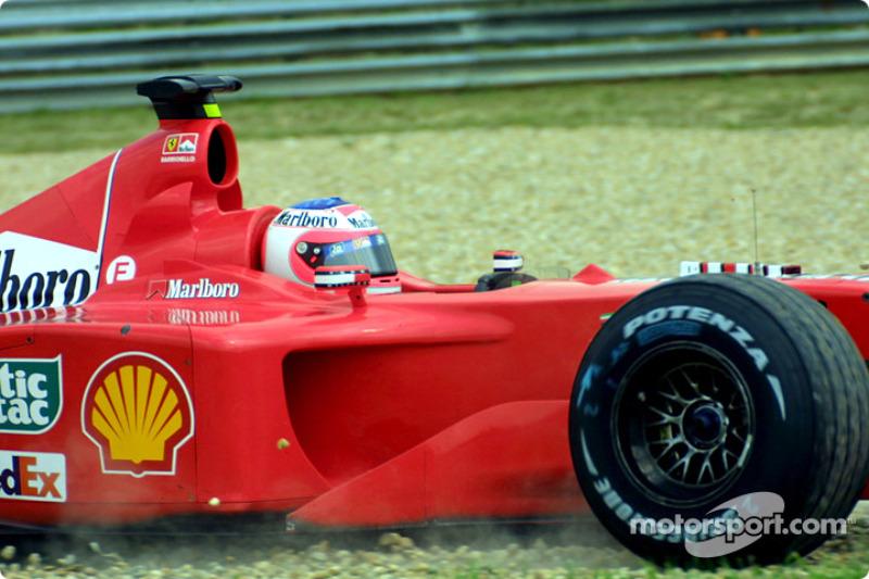 Rubens Barrichello off the track