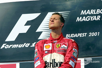 Race winner and 2001 World Champion Michael Schumacher