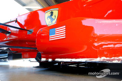 Stars and stripes on the Ferrari