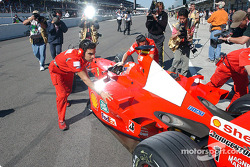 Getting ready for the race: Michael Schumacher