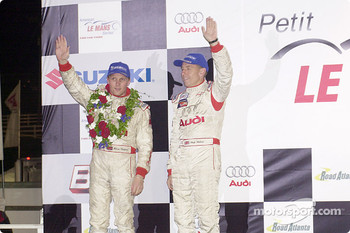 The podium: Johnny Herbert and Andy Wallace