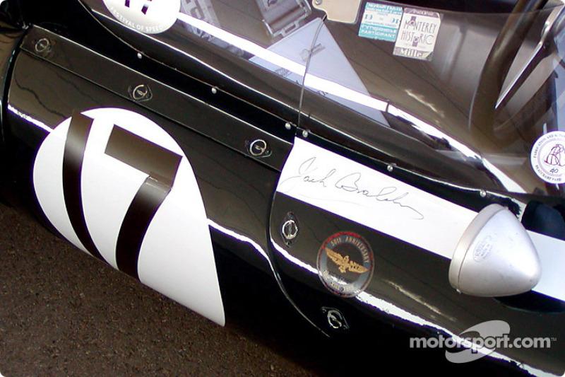 Signed by Jack Brabham