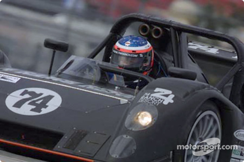 Jack Baldwin brakes in Robinson Racing's new Judd Riley & Scott Mark III-C at the Grand-Am Finale