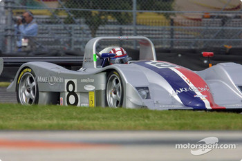 Rand Racing's Anthony Lazzaro pilots the Nissan Lola through the International Horseshoe at Daytona