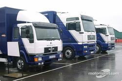 WilliamsF1 BMW trucks